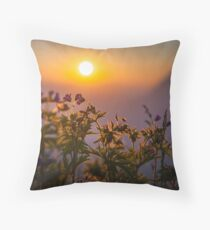 First Rays of the Day Throw Pillow