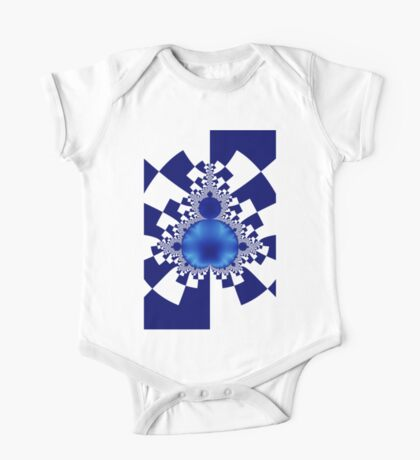 Mandelbrot Decomposition Blue & White 001 Kids Clothes