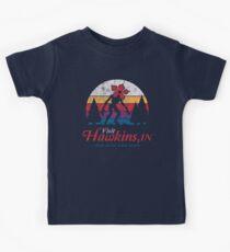 Visit Hawkins - Vintage Distressed - Demogorgon - Stranger Things Kids T-Shirt