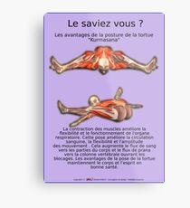 Planches Musculo-squelettique des positions de Yoga - N°39 Impression métallique