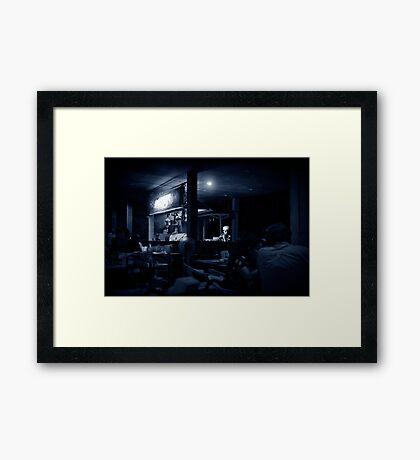 The cook Framed Print