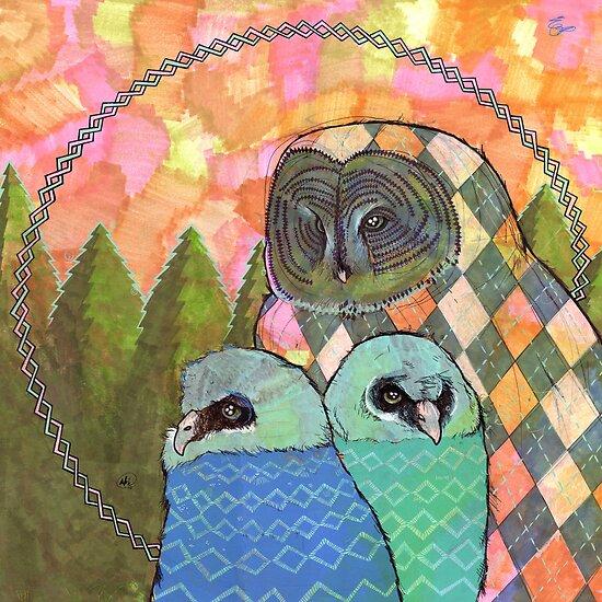 Baby Owls by Nikki Cooper