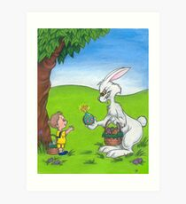 Bad Bunny- His Easter Egg Has Finally Cracked Art Print