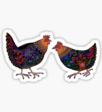 Black Chickens Sticker