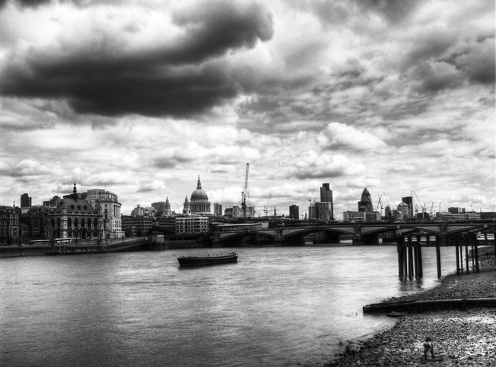 """""""City of London Skyline in black and white"""" by Chris Day ...  London Skyline Black And White"""