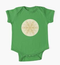 Sepia Snowflake Doodle One Piece - Short Sleeve