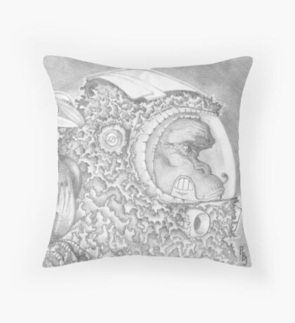 An Ape of Europa Throw Pillow