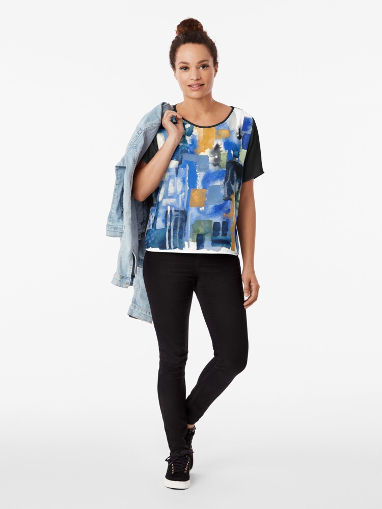 Alternate view of Ginger Jars Abstract Chiffon Top