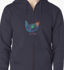 Blue Chicken Zipped Hoodie