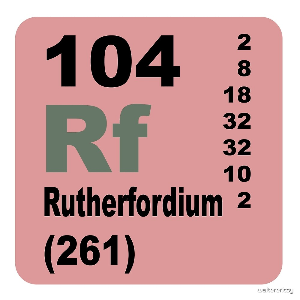 Rutherfordium Periodic Table of Elements by walterericsy