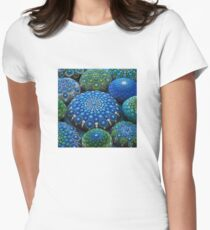 Cool Tone Mandala Stone Collection Womens Fitted T-Shirt