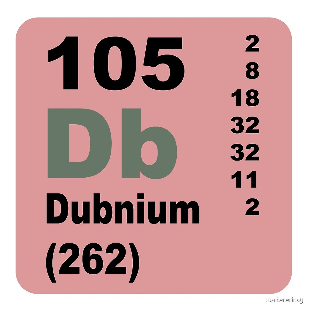 Dubnium Periodic Table of Elements by walterericsy