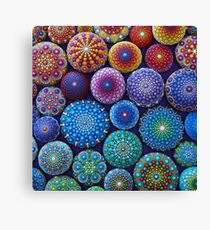Rainbow Mandala Stone Collection Canvas Print