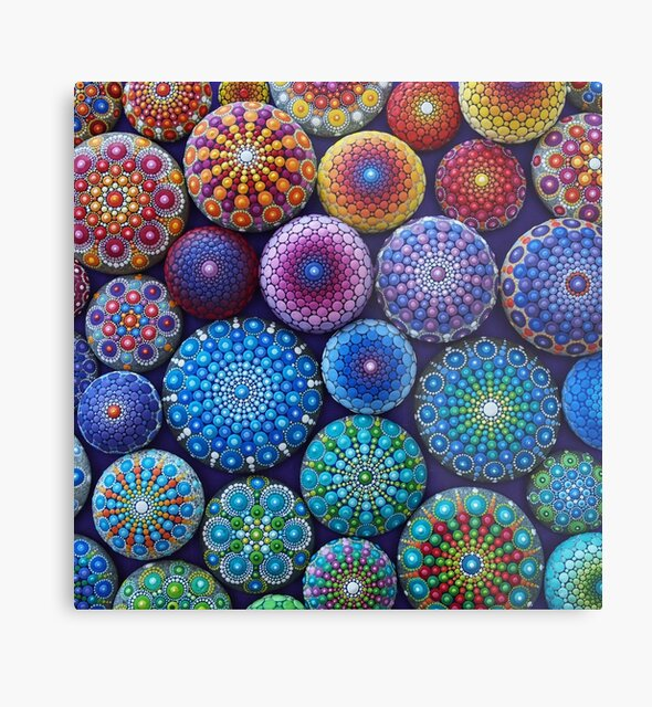 Rainbow Mandala Stone Collection by Elspeth McLean