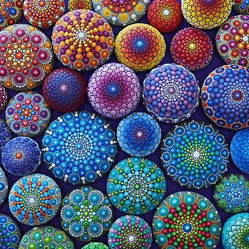 Rainbow Mandala Stone Collection by ElspethMcLean