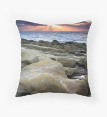 Sunset Rays over the Moray Firth Throw Pillow