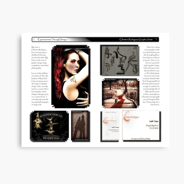 Brochure Design (page 2 -3) Canvas Print
