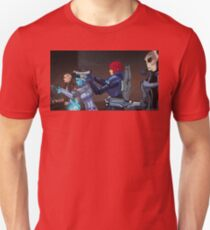 Mass Effect Cartoon - An Attack on the Cerberus Base T-Shirt