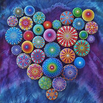 Love Rocks Mandala Stone Collection by Elspeth McLean by ElspethMcLean