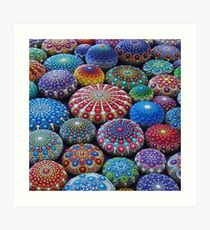 Jewel Drop Mandala Stone Collection #2 Art Print