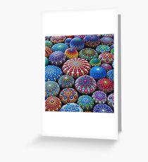 Jewel Drop Mandala Stone Collection #2 Greeting Card