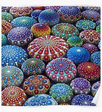 Jewel Drop Mandala Stone Collection #2 Poster