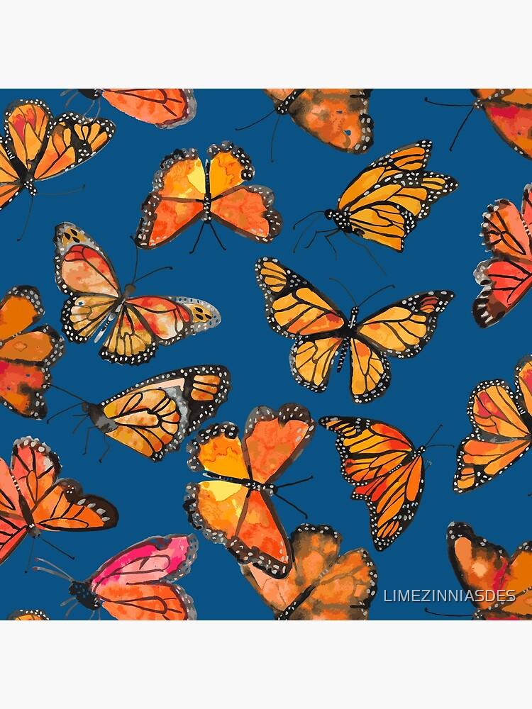 Monarch Butterflies Fly by LIMEZINNIASDES