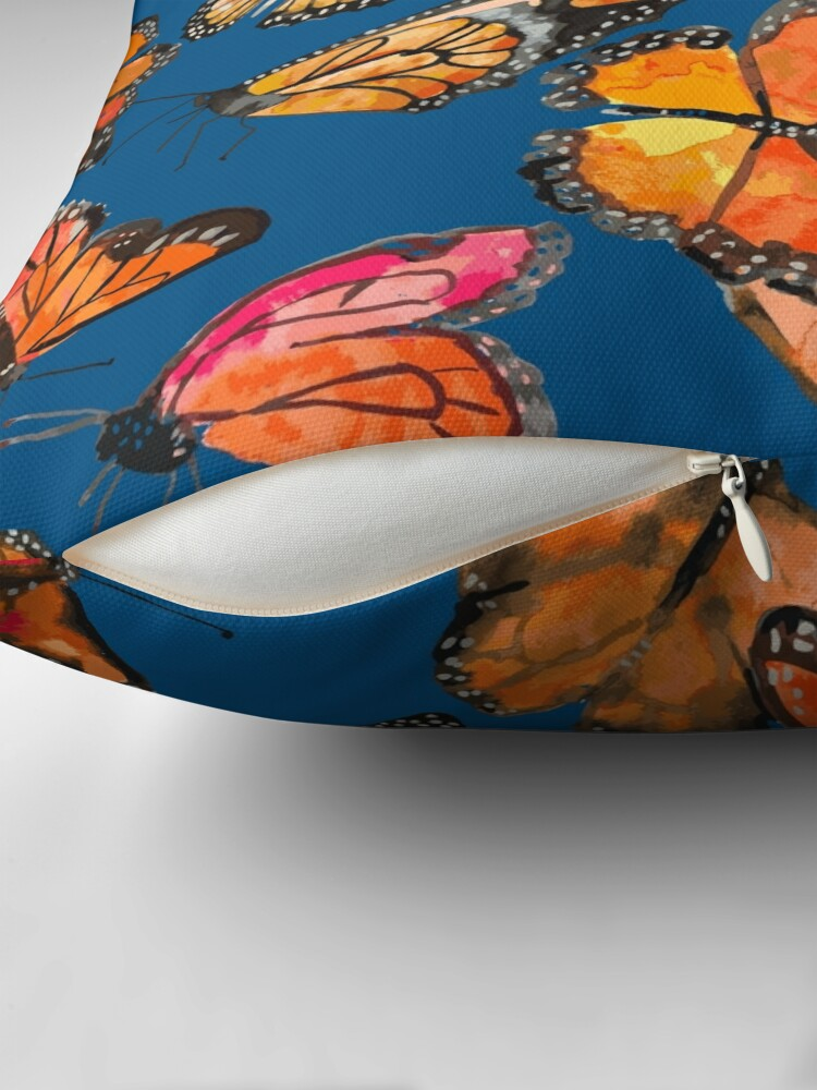 Alternate view of Monarch Butterflies Fly Throw Pillow