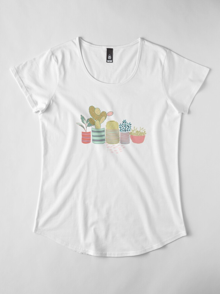 Alternate view of Cactus Toss Premium Scoop T-Shirt