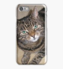 Tabby Cat with green eyes iPhone Case/Skin