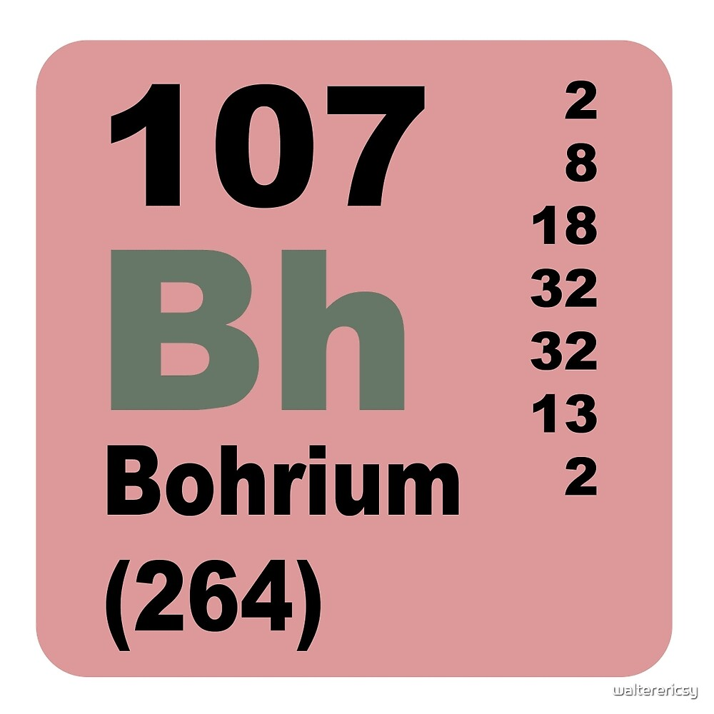 Bohrium periodic table of elements by walterericsy redbubble bohrium periodic table of elements by walterericsy gamestrikefo Gallery