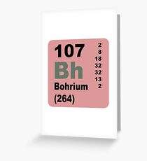 Bohrium Periodic Table of Elements Greeting Card