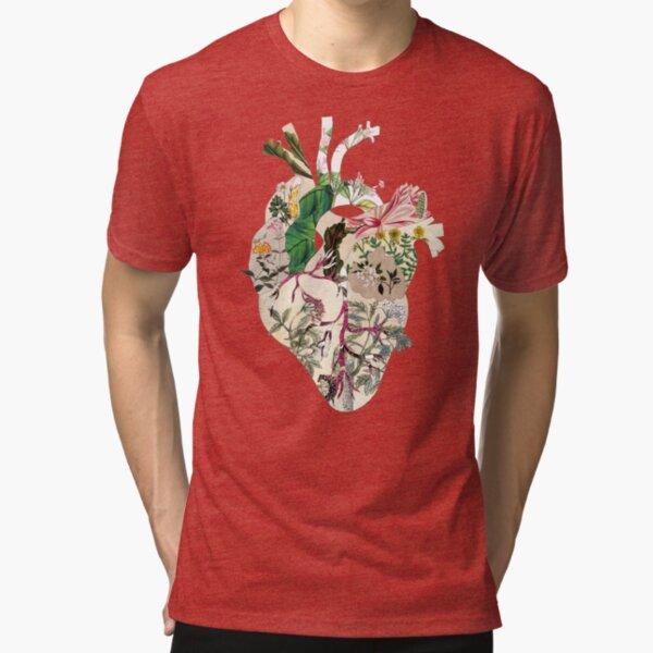 Vintage Botanical Heart Tri-blend T-Shirt