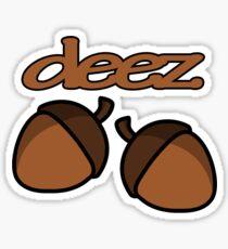 Funny deez nuts geek funny nerd Sticker