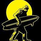 Bigfoot Surfer by David Sanders