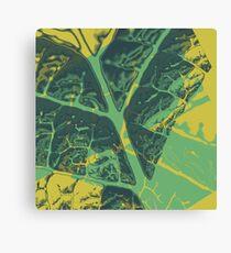 Leafy Fracto Canvas Print