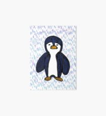 Batik Sad Penguin Art Board Print