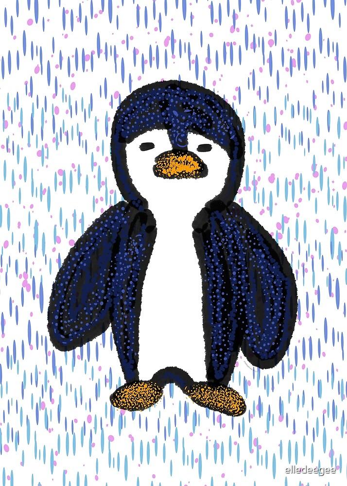Batik Sad Penguin by elledeegee