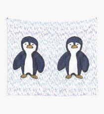Batik Sad Penguin Wall Tapestry