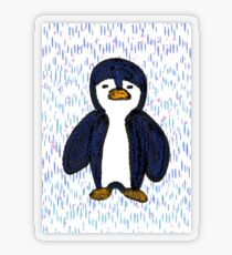 Batik Sad Penguin Transparent Sticker