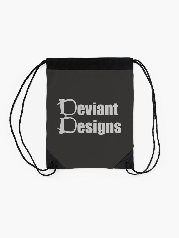 Alternate view of Deviant Designs - Light Drawstring Bag