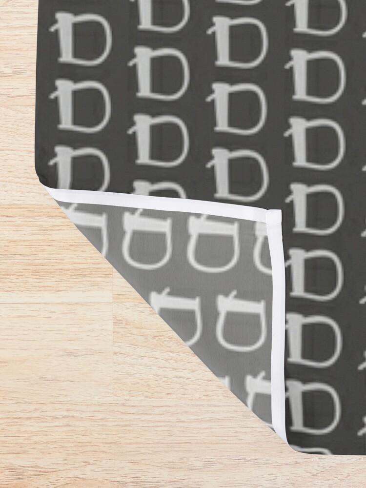 Alternate view of Deviant Designs - D Shower Curtain