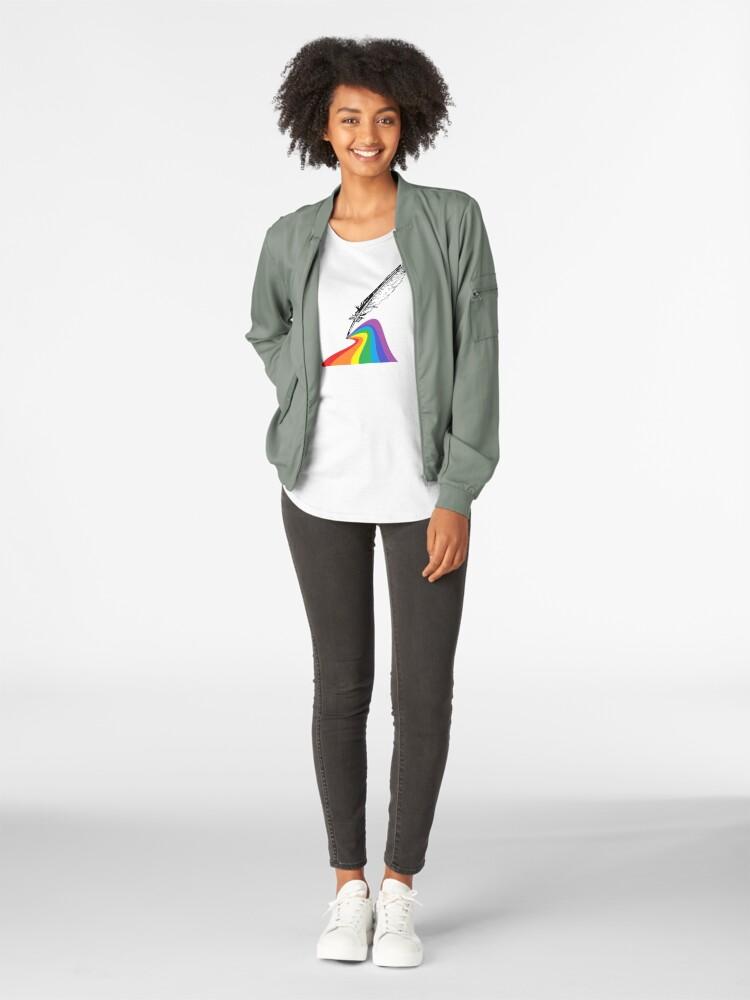 Alternate view of Proud Quill Premium Scoop T-Shirt