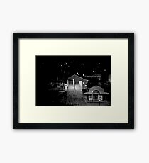 Nightime Wharf Framed Print