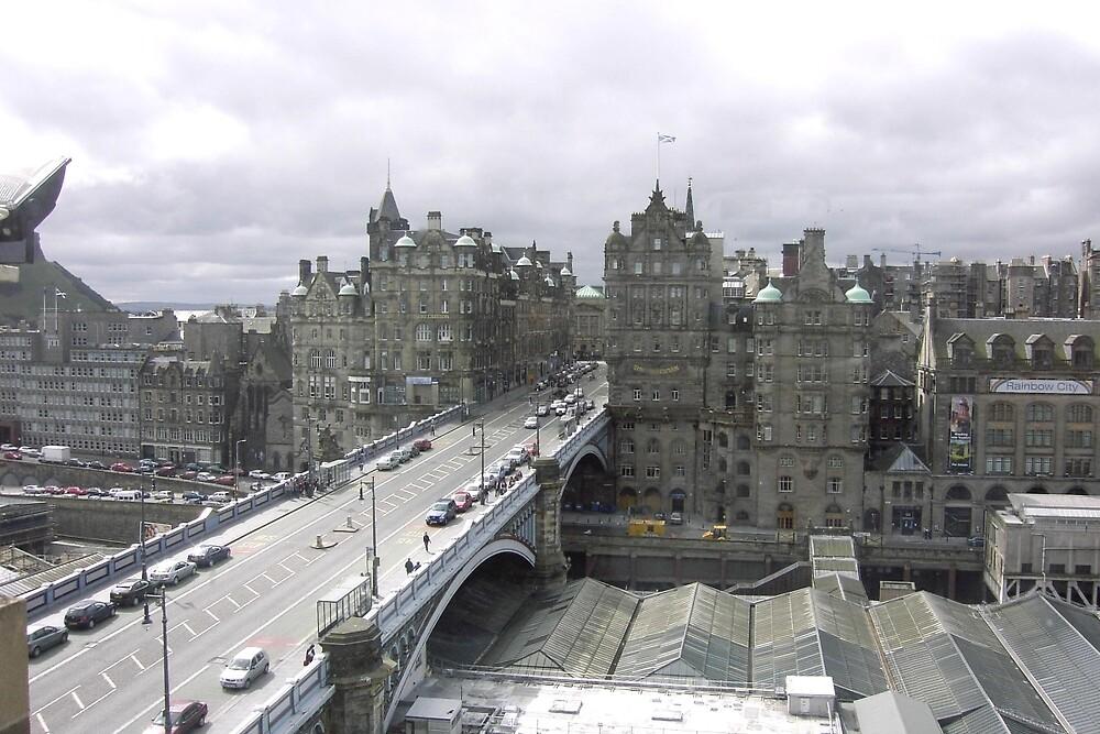 Princess street & Weaverly station Edinburgh   - Scotland by mikequigley