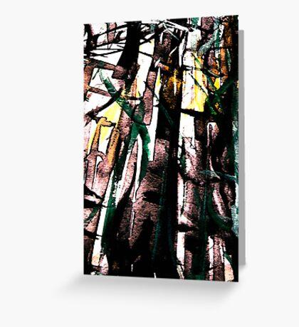 bamboo shadows.... Greeting Card