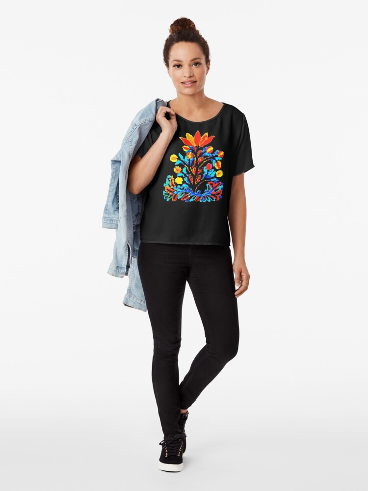 Alternate view of Fire and Water Flower Chiffon Top