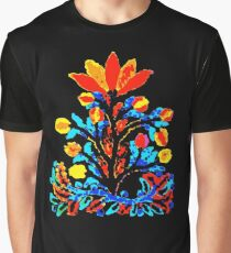 Fire and Water Flower Graphic T-Shirt