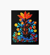 Fire and Water Flower Art Board Print