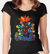 Fire and Water Flower Fitted Scoop T-Shirt
